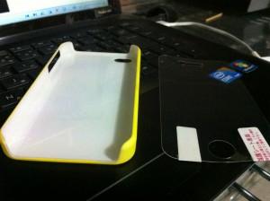 ムーミンiPhone4[4s]ケースカバー(ジュース)裏面と液晶保護フィルム